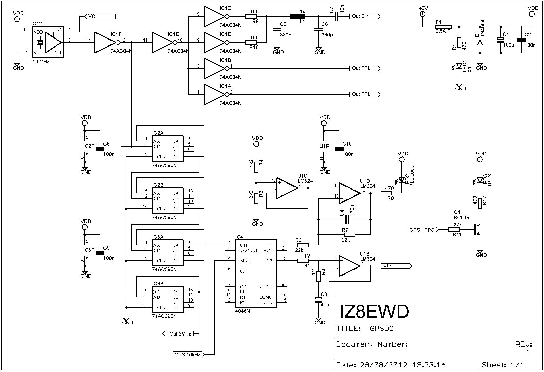 GPSDO - Schema elettrico