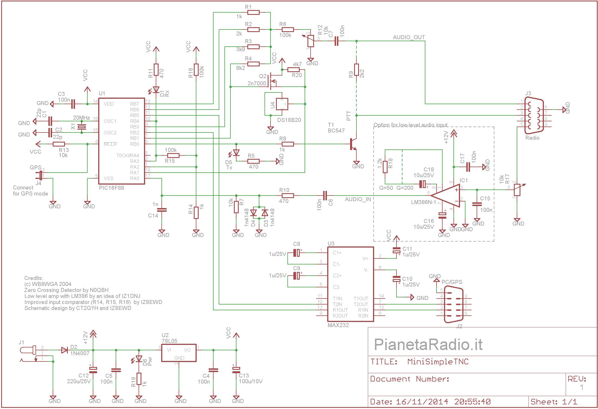 Mini TNC - Schema elettrico