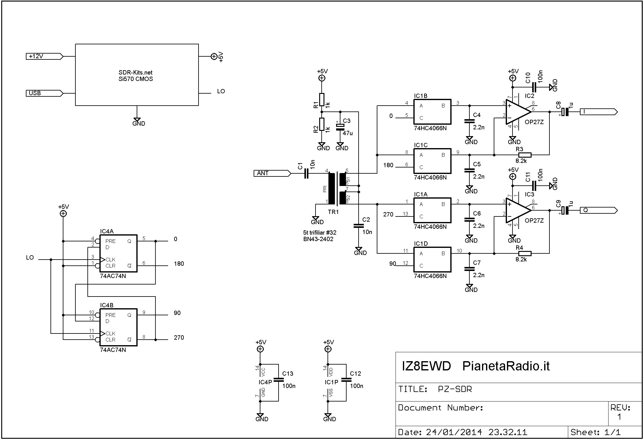 PZ-SDR - Schema elettrico