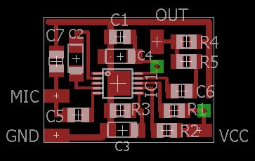 Compressore microfonico - Disposizione componenti