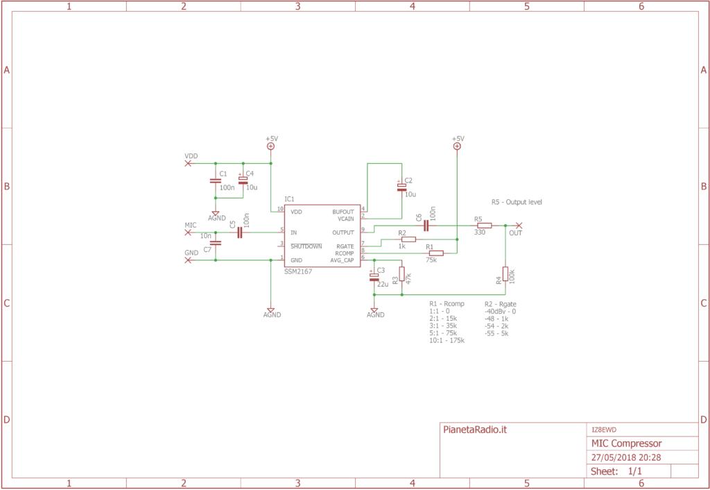 Compressore microfonico - Schema