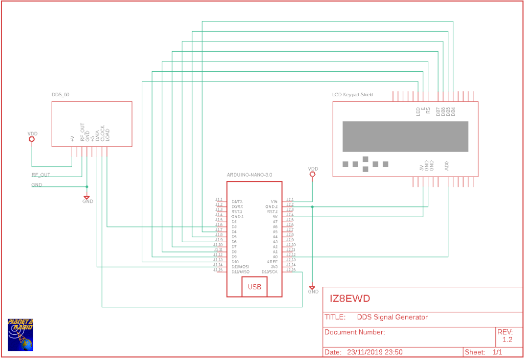 DDS Signal Generator - Schematic