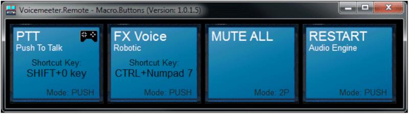 Voicemeeter - Bottoni macro