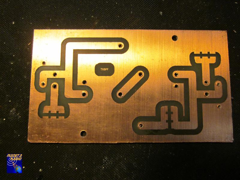 TX bandpass filter - PCB