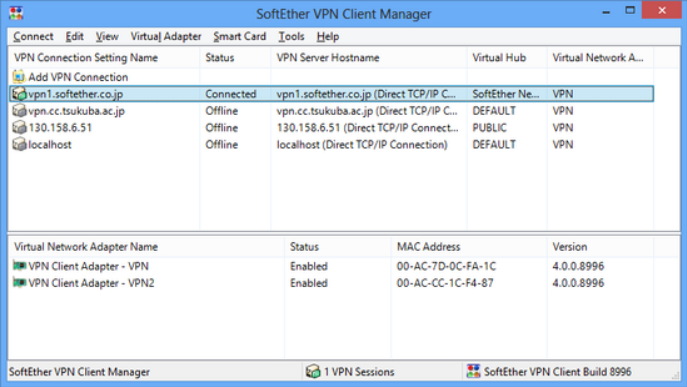 SoftEther VPN - Client Manager