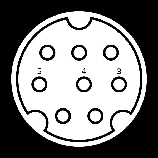 mini-DIN 8 pin