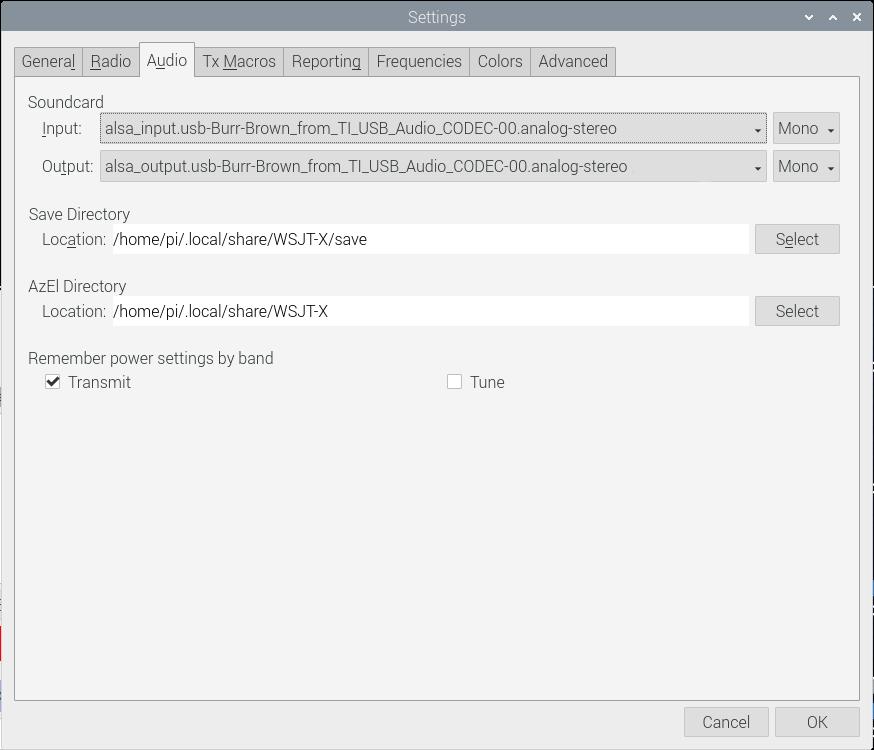 Yaesu FT-991 - configurazione scheda audio
