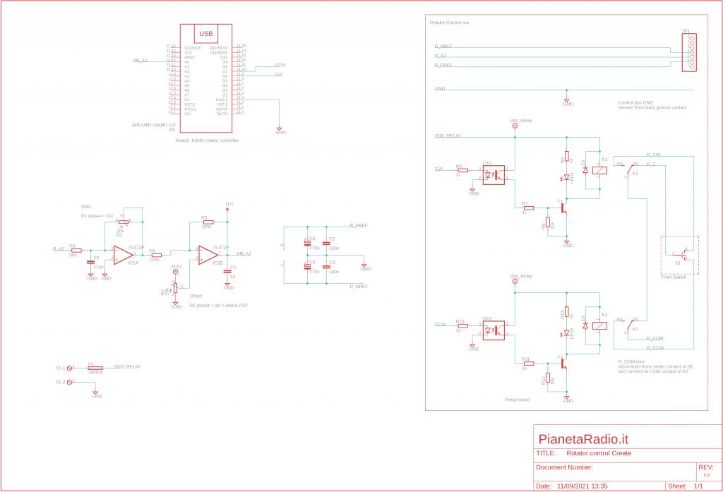Controller rotore Create - Schema elettrico